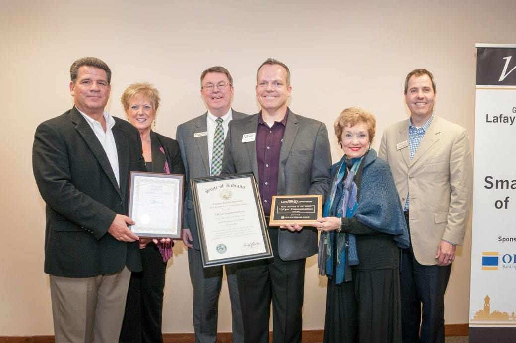 uplync communications in lafayette indiana received the small business of the month award