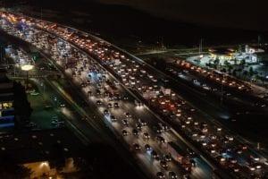 Traffic jam depicting voip phone gridlock