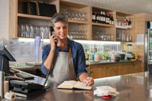 Business owner using phone lines with SIP Trunks